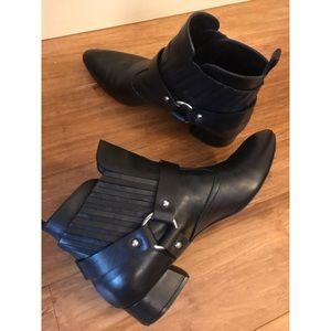 Casadei leather black booties